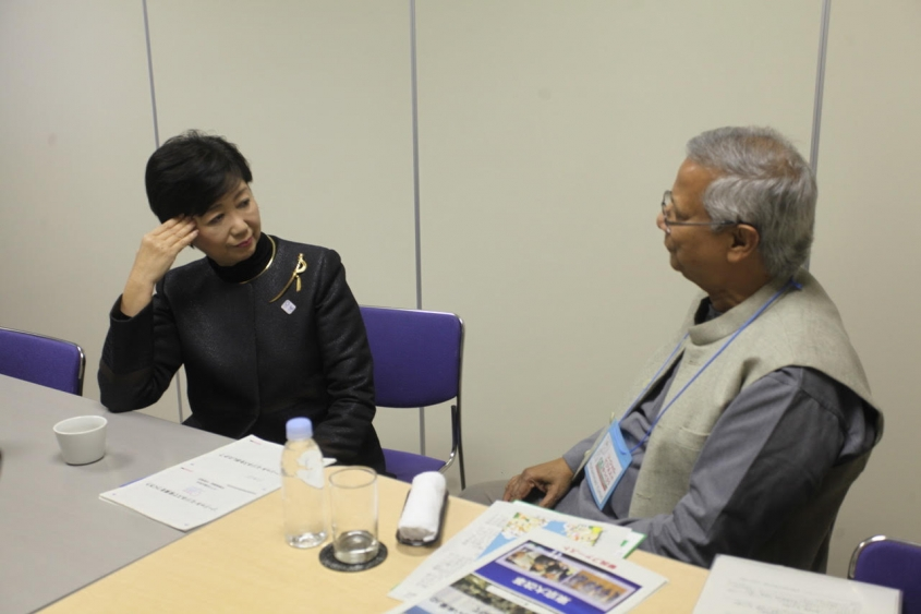 Professor Yunus addresses healthcare and ageing in Tokyo, at International Social Business Forum in Japan