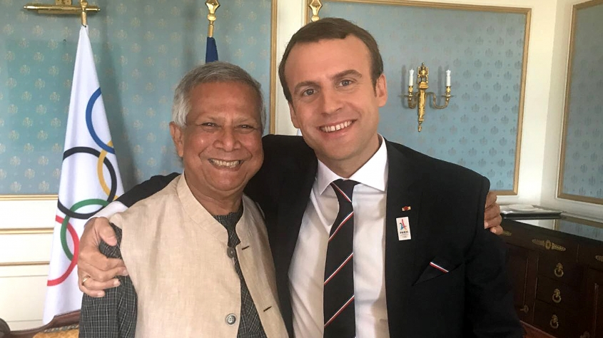Yunus Teams up with President Macron and Mayor Hidalgo of Paris for the  2024 Olympics